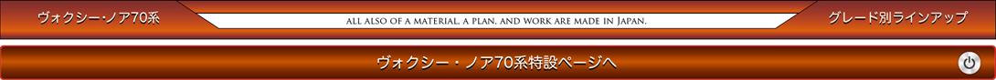 ヴォクシー・ノア70系 グレード別ラインアップ